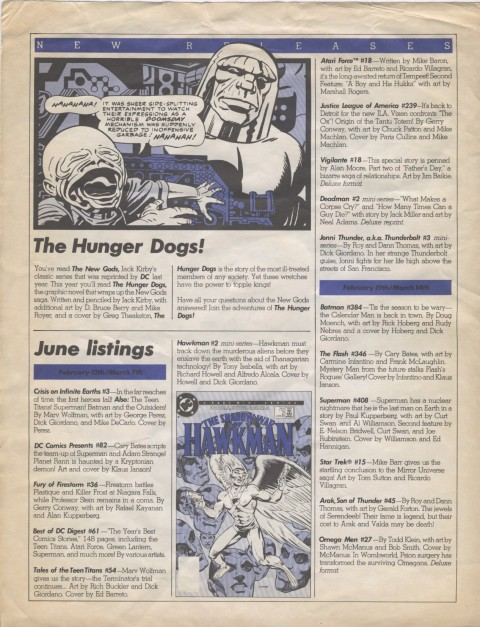 DC Releases June '85 Page 2