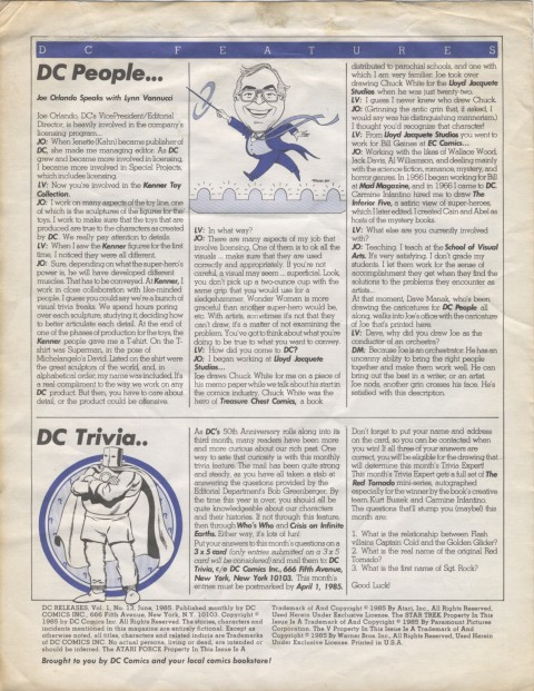 DC Releases June '85 Page 4