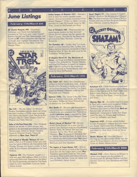 DC Releases June '86 Page 2