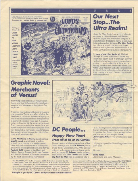 DC Releases June '86 Page 4