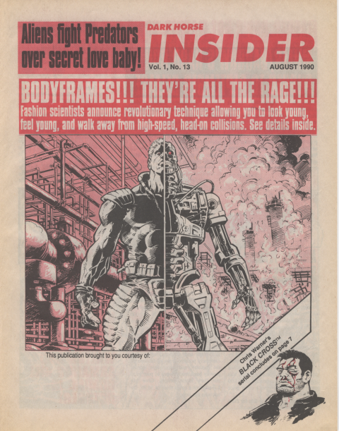 Dark Horse Insider August 1990 page 1