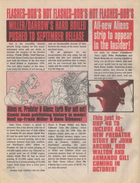 Dark Horse Insider August 1990 page 2