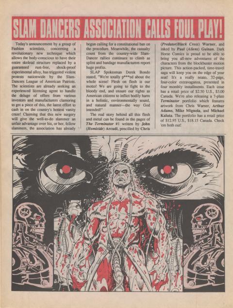 Dark Horse Insider August 1990 page 3