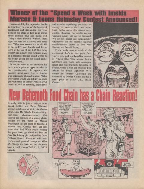 Dark Horse Insider August 1990 page 5