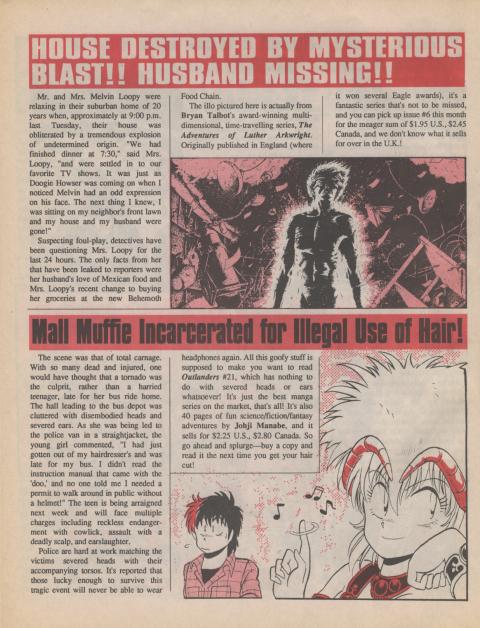 Dark Horse Insider August 1990 page 6