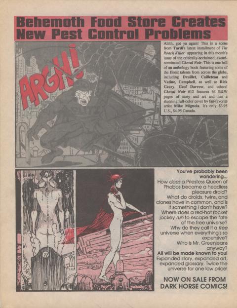 Dark Horse Insider August 1990 page 8