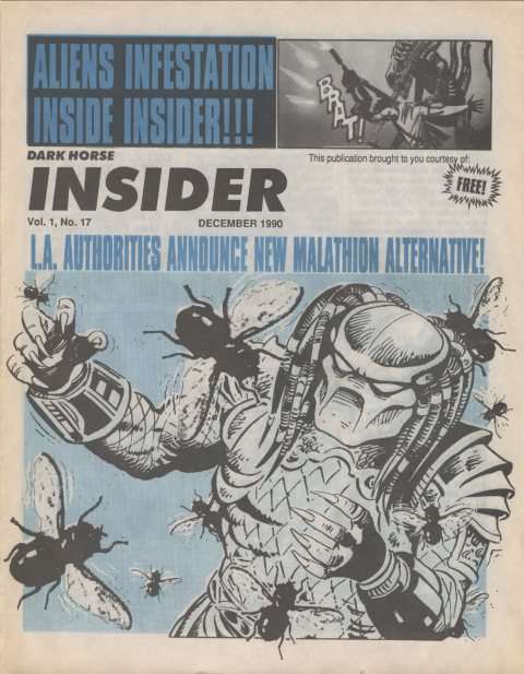 Dark Horse Insider December 1990 page 1