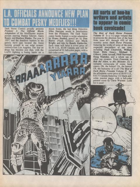 Dark Horse Insider December 1990 page 3