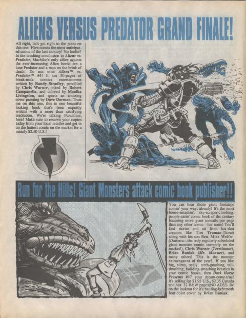 Dark Horse Insider December 1990 page 4