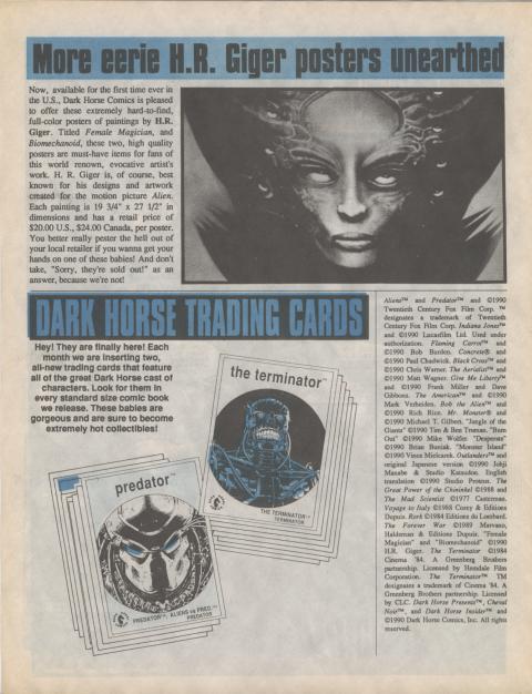 Dark Horse Insider December 1990 page 8