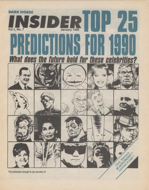 Dark Horse Insider January 1990 page 1