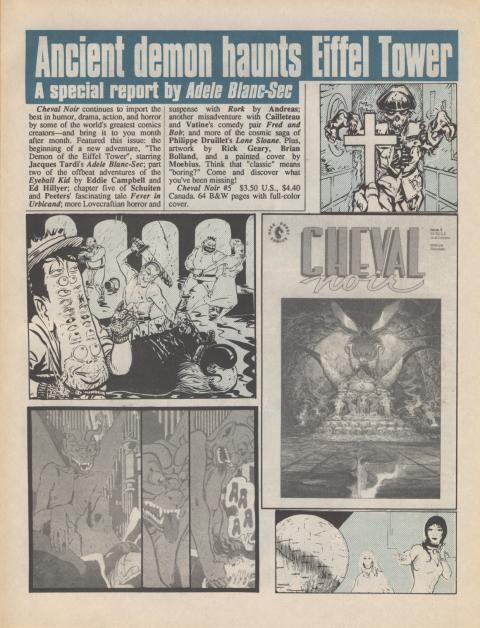 Dark Horse Insider January 1990 page 3