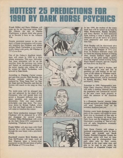 Dark Horse Insider January 1990 page 4