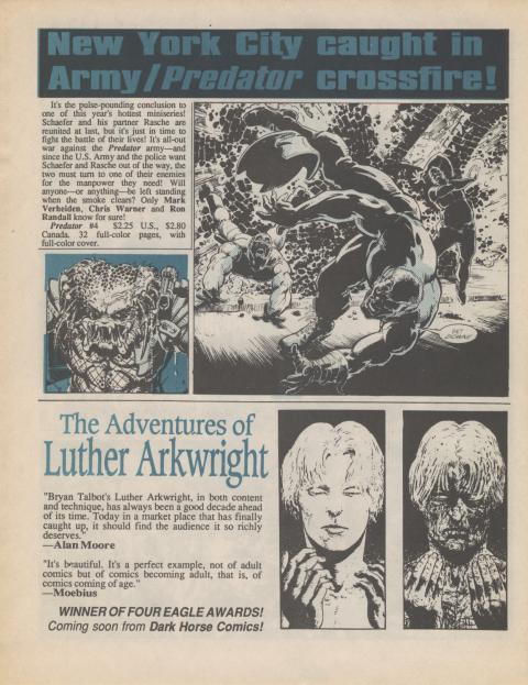 Dark Horse Insider January 1990 page 8