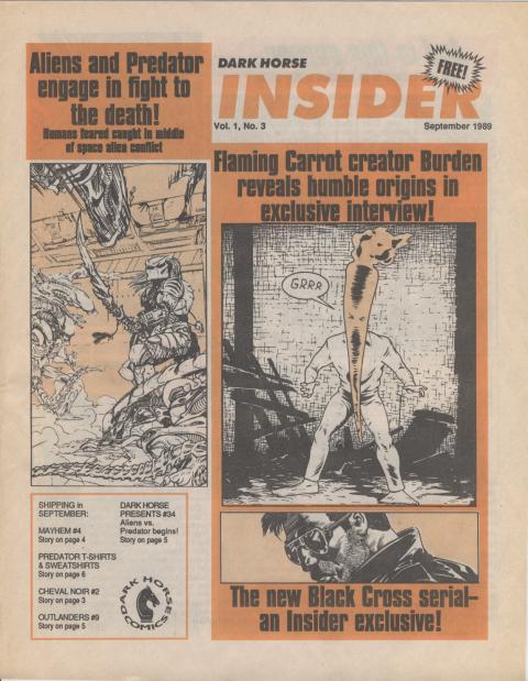 Dark Horse Insider September 1989 page 1