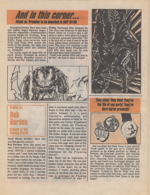 Dark Horse Insider September 1989 page 2