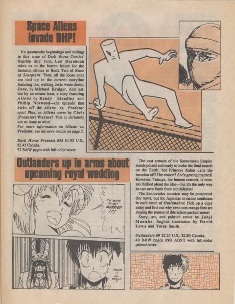 Dark Horse Insider September 1989 page 5
