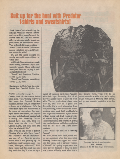 Dark Horse Insider September 1989 page 6