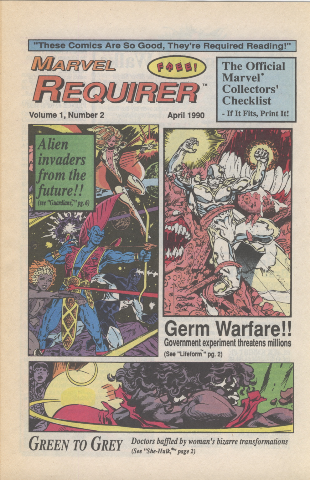 Time Capsule: Marvel Requirer 2, April 1990