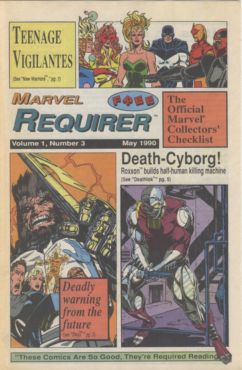 Time Capsule: Marvel Requirer 3, May 1990