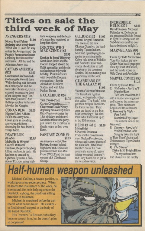 Marvel Requirer 3 May 1990 Page 5
