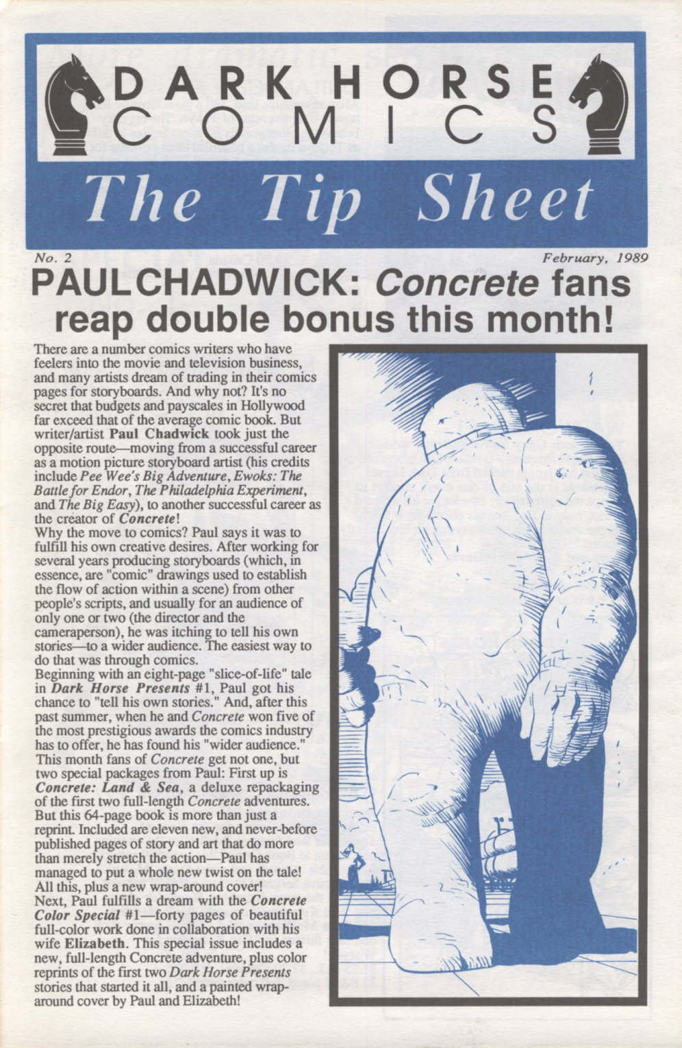 Time Capsule: The Tip Sheet 2, February 1989