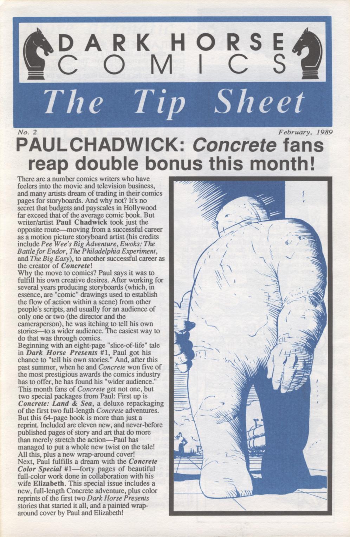 Time Capsule: The Tip Sheet 2, February 1989