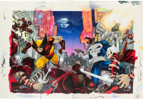 A Bad Night For Ninjas by Jim Lee.  Source.
