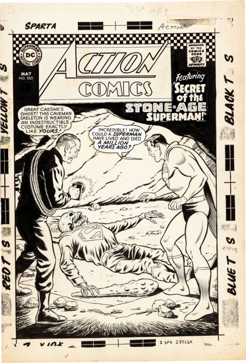 Action Comics issue 350 cover by Curt Swan and George Klein.  Source.