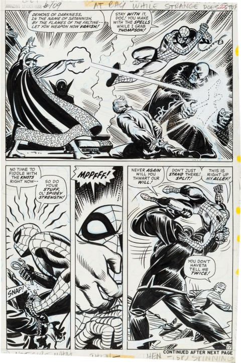 Amazing Spider-Man issue 109 page 17 by John Romita.  Source.