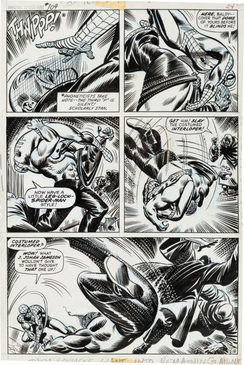 Amazing Spider-Man issue 109 page 18 by John Romita.  Source.