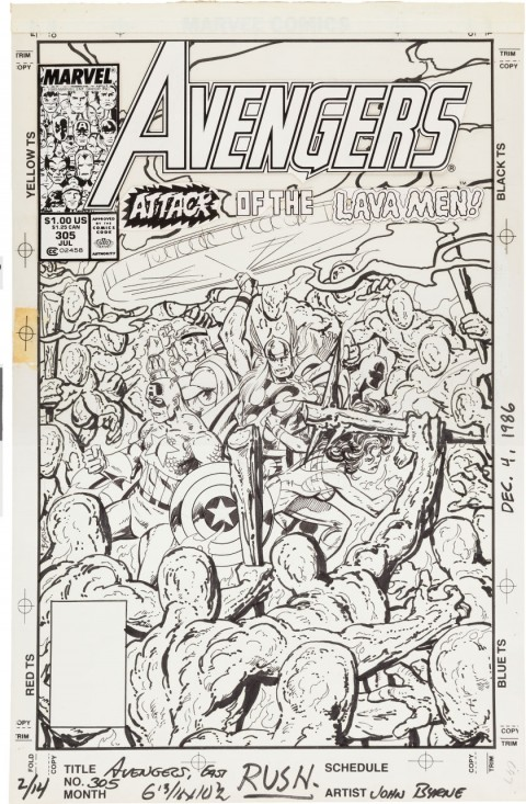 Avengers issue 305 cover by John Byrne.  Source.