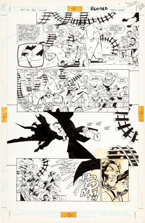 Batman: The Dark Knight Returns issue 3 page 37 by Frank Miller and Klaus Janson.  Source.