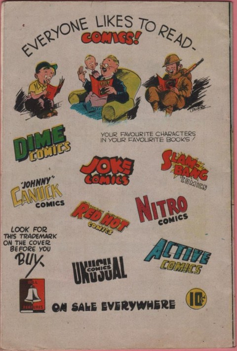 Comic Crimes 11 back cover.