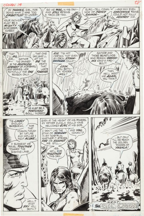 Conan The Barbarian issue 14 page 28 by Barry Smith and Sal Buscema.  Source.