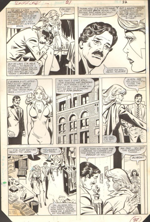 Dazzler issue 21 page 32 by Frank Springer and Vince Colletta.  Source.