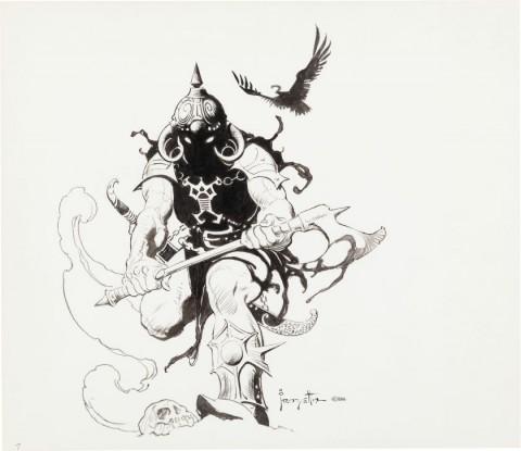 Death Dealer by Frank Frazetta.  Source.
