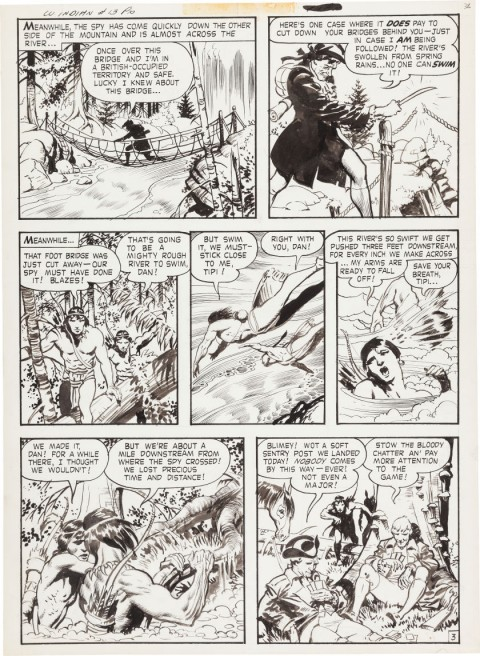 Durango Kid issue 13 White Indian page 3 by Frank Frazetta.  Source.