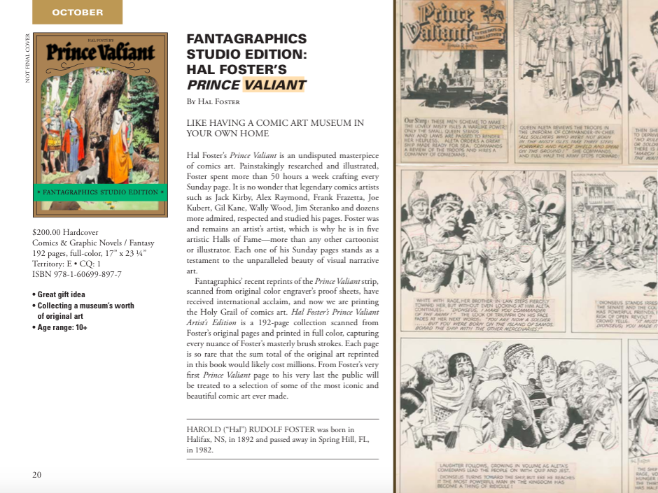 Fantagraphics starts Studio Edition line with Hal Foster