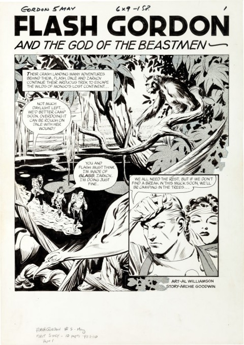 Flash Gordon issue 5 splash by Al Williamson.  Source.