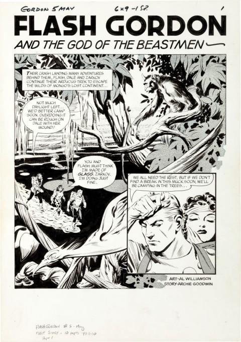 Flash Gordon issue 5 splash by Al Williamson.  Source.