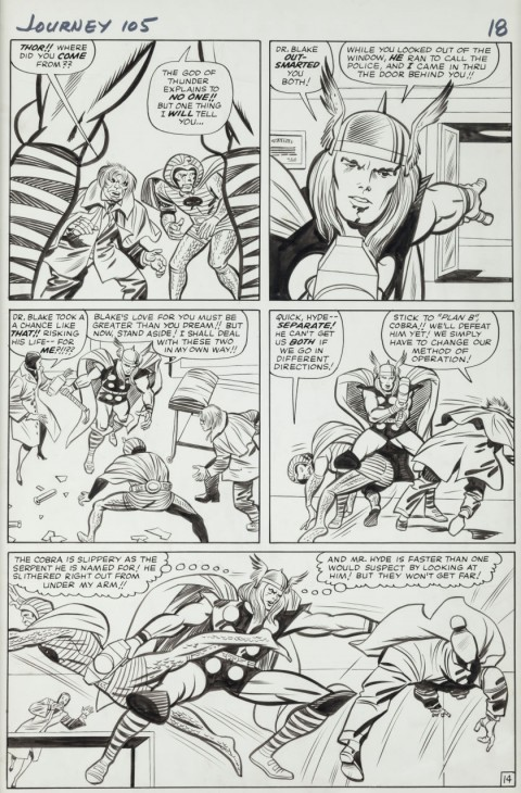 Journey Into Mystery issue 105 page 14 by Jack Kirby and Chic Stone.  Source.