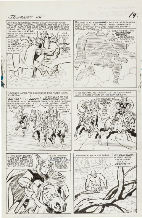 Journey Into Mystery issue 114 page 19 by Jack Kirby and Chic Stone.  Source.