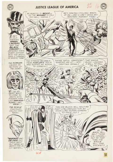 Justice League Of America issue 21 page 14 by Mike Sekowsky and Bernard Sachs.  Source.