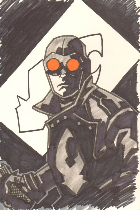 Lobster Johnson by Jason Baroody.  Source.