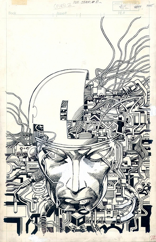 Machine Man issue 2 cover by Barry Windsor-Smith
