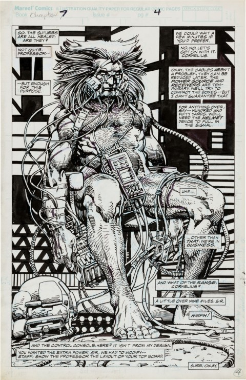 Marvel Comics Presents 78 page 4 by Barry Windsor-Smith.  Source.