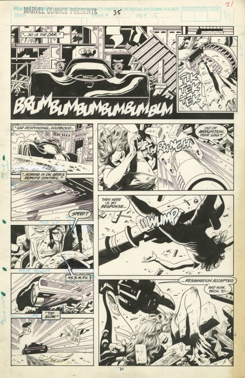 Marvel Comics Presents issue 35 page 21 by Paul Gulacy.  Source.