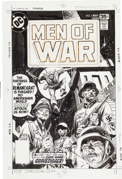 Men Of War issue 6 cover by Joe Kubert.  Source.