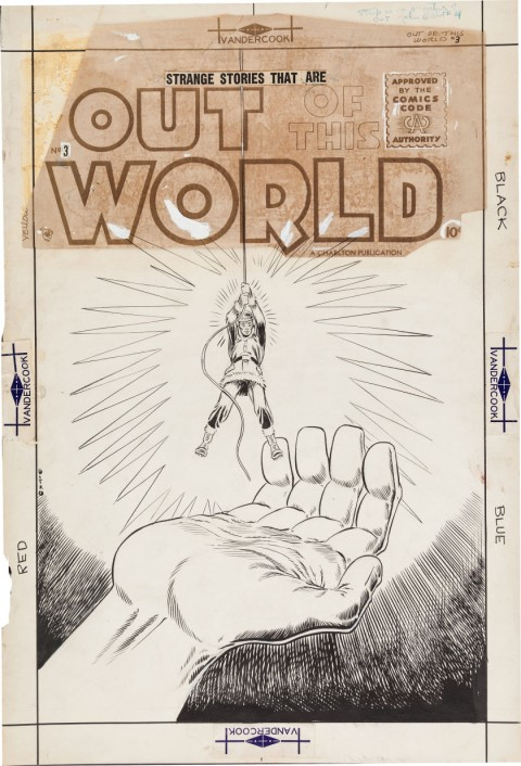 Out Of This World issue 3 cover by Steve Ditko.  Source.